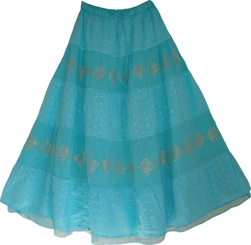 Embroidered Puerto Rico Long Skirt