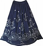 Navy Blue Ethnic Long Skirt