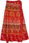 Ethnic indian Printed Cotton Maxi Wrap Skirt