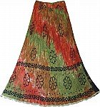 Tahitian Summer Crinkle Long Skirt