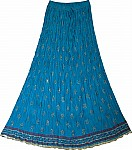 Deep Cerulean Summer Long Skirt