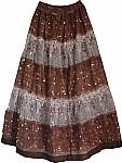 Bohemian Style Sequin Skirt