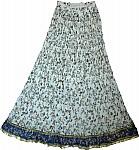 White Bohemian Crinkle Skirt