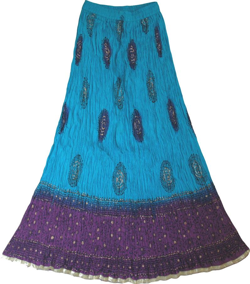 Ethnic indian crinkle long skirt - Sale on bags, skirts, jewelry ...