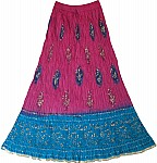 Ethnic Indian Hibiscus Long Skirt