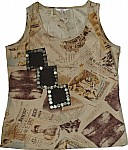 Safari Tank w/ Flower Paillettes