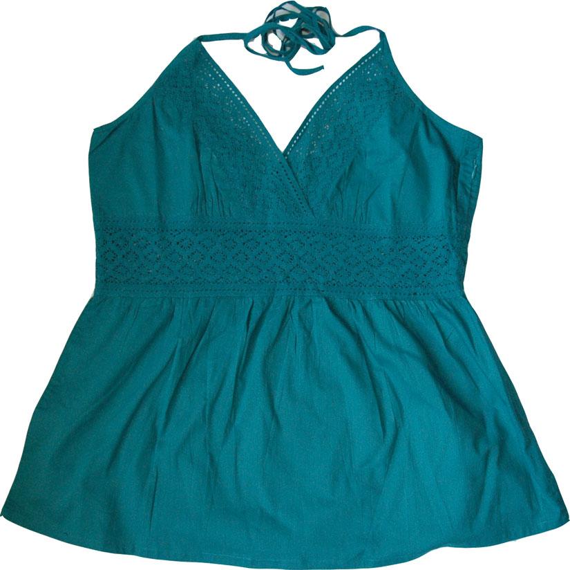 Blue Lagoon summertime halter top, Blue Lagoon Crochet Halter Top