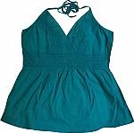 Blue Lagoon Crochet Halter Top