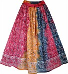 Tricolor Sequined Skirt