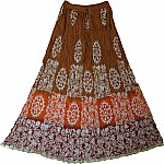 Batik Print Cotton Skirt