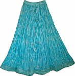 Womens Long Skirt in Glacier