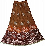 Fish Print Cotton Long Skirt