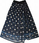 Long Ethnic Sequin Skirt