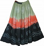 Tie Dye Dancing Long Skirt