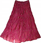 Fuschia Pink Shiny Summer Skirt