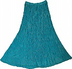 Womens Long Skirt in Blue Chill