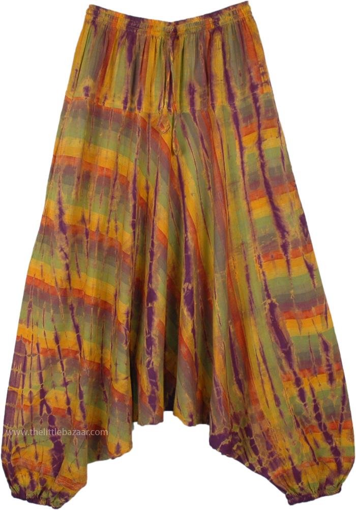 Happy Hippie Woven Cotton Aladdin Tie Dye Pants