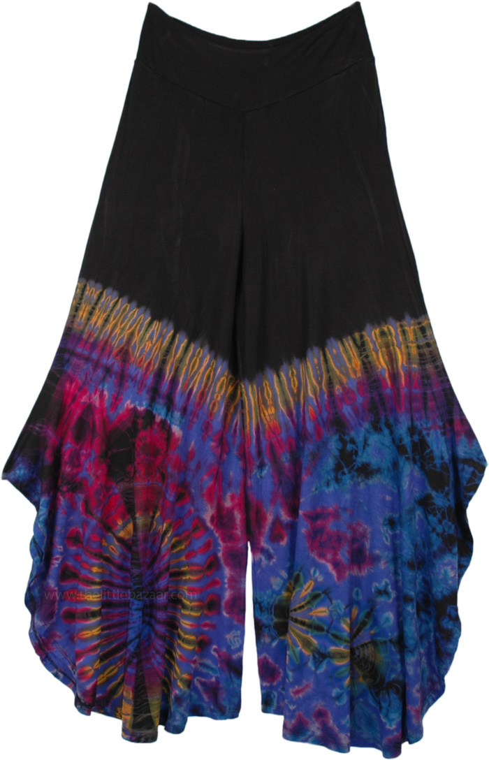 Nebula Gypsy Tie Dye Side Cut Palazzo Pants