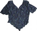 Exquisite  Women`s Beaded Top/Shirt