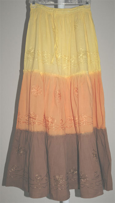 Bohemian Boho Skirt in Three Colors