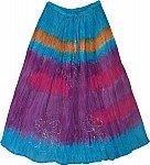 Tie Dye Skirt in Summer Colors
