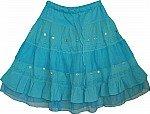 Eastern Blue Short Skirt