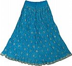 Deep Cerulean Short Cotton Skirt