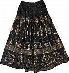 Black Gold Sequin Skirt