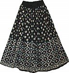 Sparkling Black Sequin Skirt