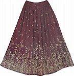 Bordeaux Golden Long Skirts