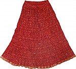Red Summer Short Skirt