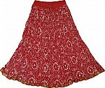 Tamarillo Cotton Summer Skirt