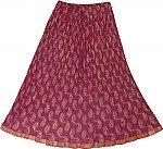 Blush Crinkle Short Skirt