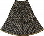 Black Fashion Short Crinkle Skirt