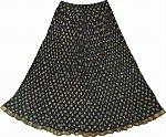 Black Fiesta Summer Skirt