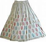 Summer Long White Skirt