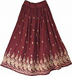 Bordeaux Golden Fashion Skirt