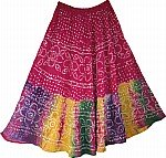 Maroon Flush Ethnic Indian Cotton Skirt