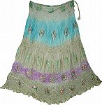 Hippie Gypsy Boho Silk Skirt
