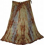 Gypsy Crinkle Silk Skirt