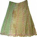 Boho Shaded Silk Skirt