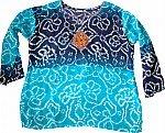 Cerulean Boho Tunic Shirt