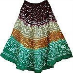 Shaded Fiesta Summer Skirt
