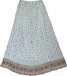White Voile Womens Skirt