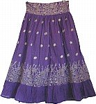 Royal Purple Bohemian Skirt
