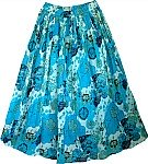 Pacific Blue Summer Cotton Skirt
