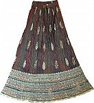 Limed Spruce Long Cotton Skirt
