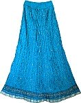 Festive Crinkle Tall Blue Skirt