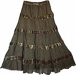 Peat Womens Georgette Skirt