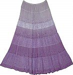 Old Lavender Flowy Long Skirt